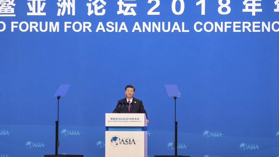 The President of China speaks at the forum.