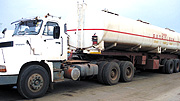 An oil truck at Malaba border. Customs protocol to ease  cross border trade. (File photo).