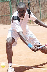 Rwanda's tennis ace Jean Claude Gasigwa is trying to get back to full fitness ahead of this year's Davis Cup. (File Photo)