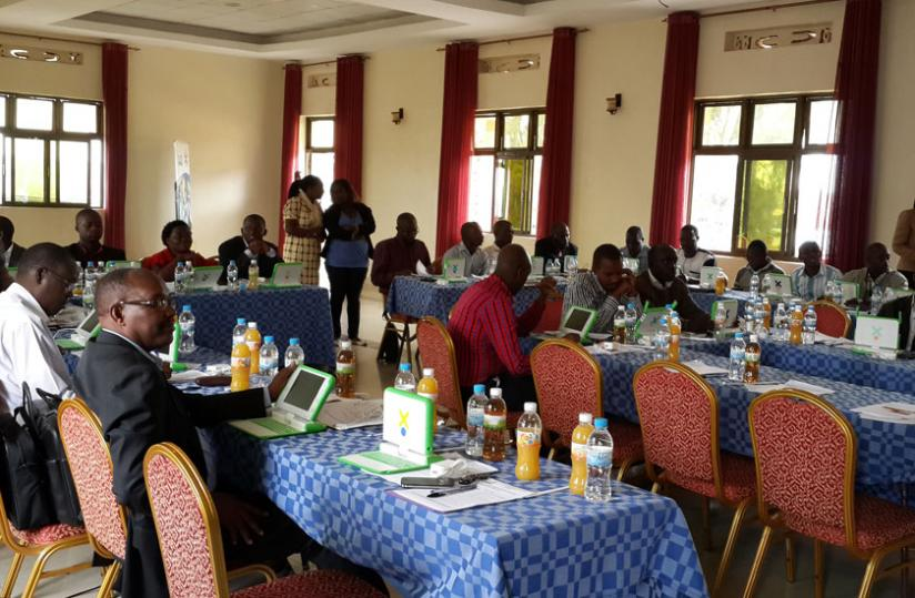 District education officers and school inspectors at the closure of the OLPC workshop yesterday. (Courtesy)