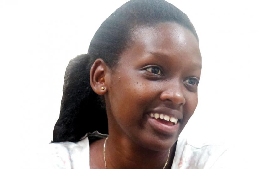 Christine Teta during the interview at the New Times offices. (The New Times/ J. Mbanda)