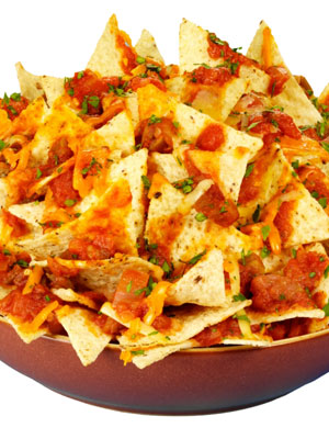 Nachos are very tasty and can be made for vegetarians and meat lovers.  (Net photo)