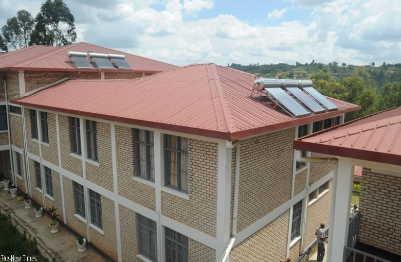 Houses installed with solar panels to promote green energy. (File)