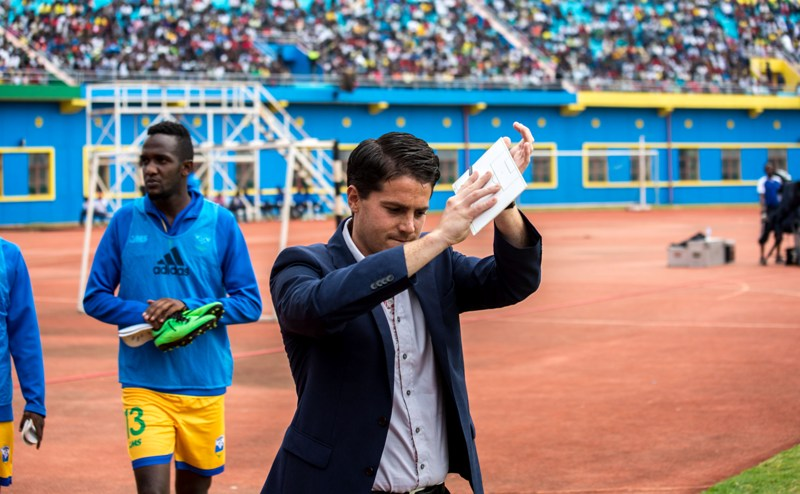 1471511992McKinstry applauds the fans after the 1-0 home defeat to Ghana in an AfCON qualifier in September last year. He had extended his contract until 2018 in May this year.