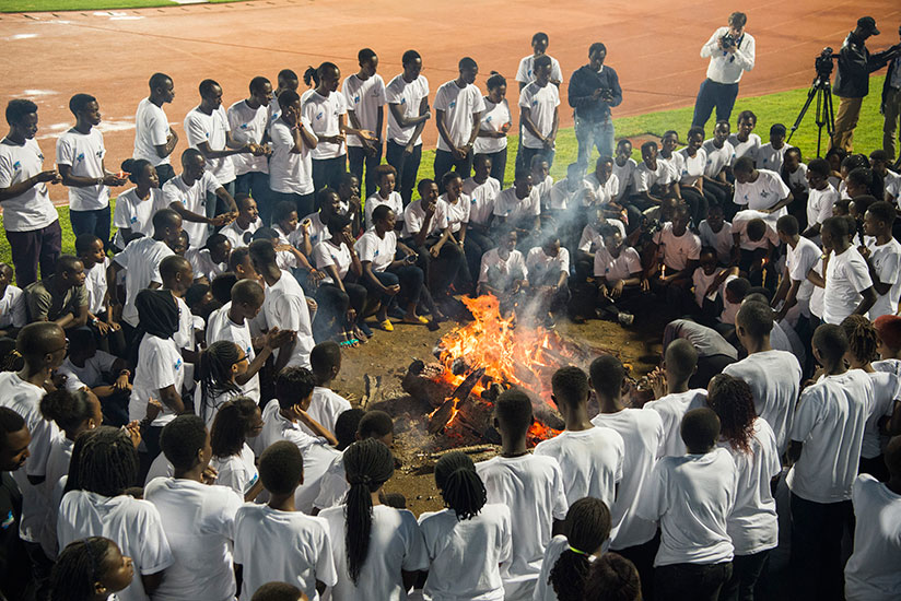 1492210725The-youth-kept-fire-during-the-night-vigil-for-Kwibuka-23-held-on-April-7-at-Amahoro-National-Stadium