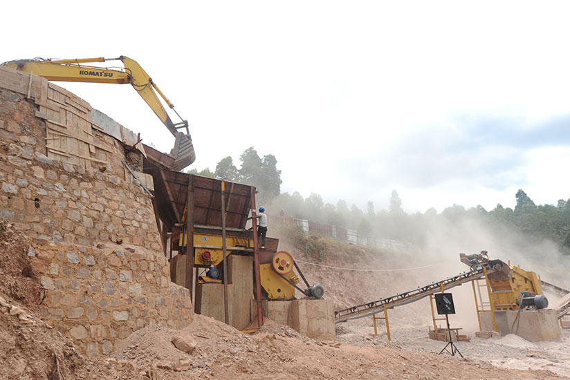 Machinery used by the plant to produce different types of construction materials. / John Mbaraga