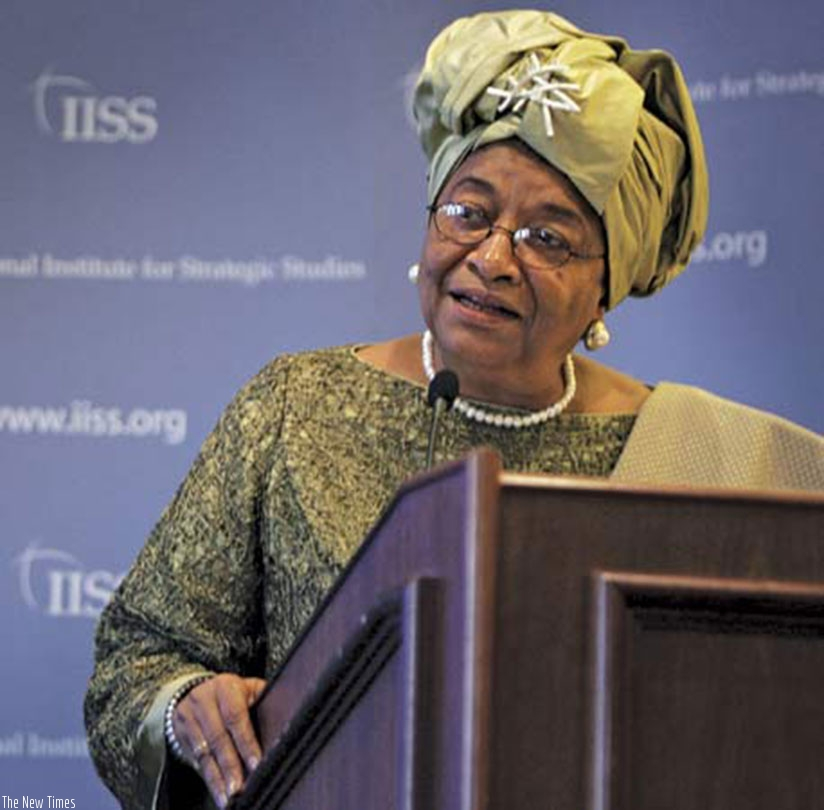Ellen Johnson Sirleaf.