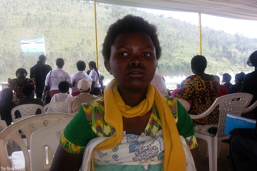 Mukamusoni after registering her baby in Rulindo. / Marie-Anne Dushimimana