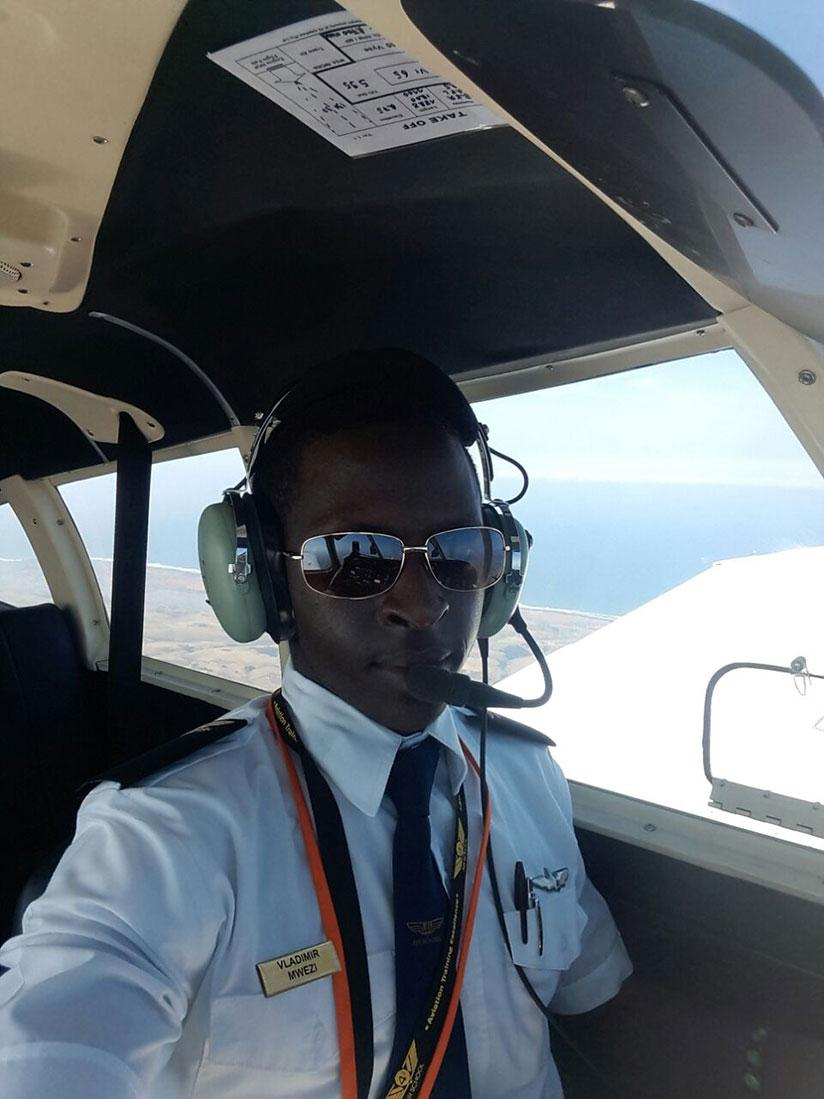 Huriro is the youngest Rwandan pilot. / Courtesy