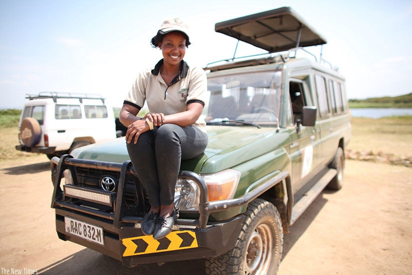 Muhumuza's dream to drive a jeep has come to pass. / Photo by Maria Miracle.