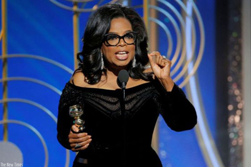 Oprah Winfrey's speech was a memorable highlight for many. (Net photo)
