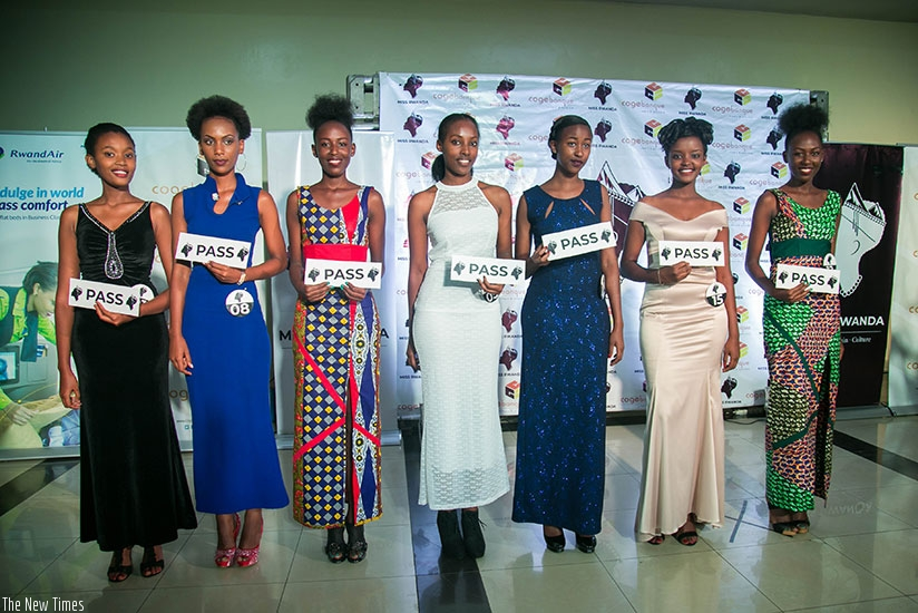 Seven girls were picked to represent the City of Kigali at the Miss Rwanda 2018 pageant.(Photos by Nadege Imbabazi)