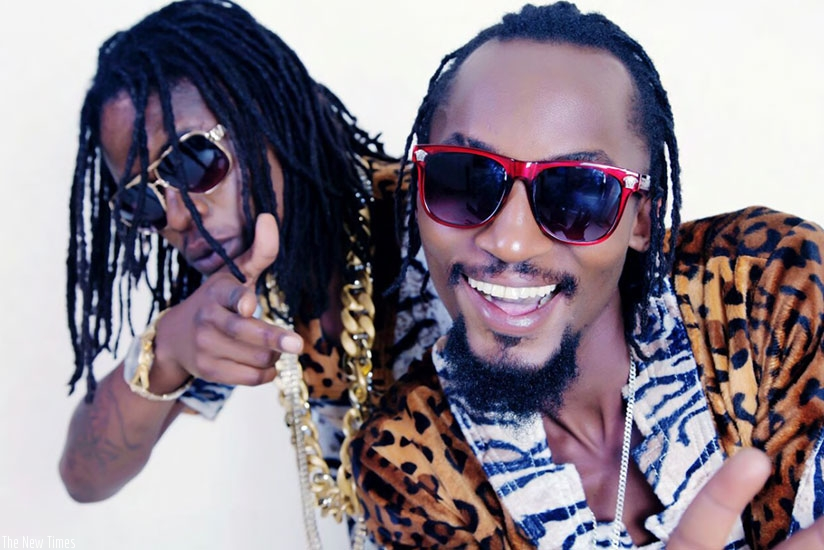 Ugandan duo Radio (front) and Weasel. Radio died from injuries he sustained in a bar brawl last month on Thursday morning. /Net photo