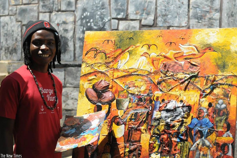 Jean-Marie Vianney Munezero (pictured) is among local visual artists expected to take part in the 8th edition of East Africa Art biennale in Kigali. /File.