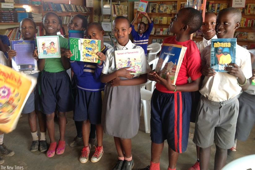 Pupils present stories from their favourite books during a reading class. Class presentations boost learners' confidence. / Dennis Agaba.
