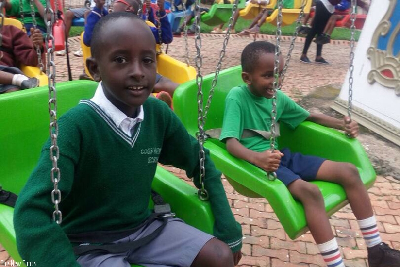 Pupils enjoying outdoor games. Playing with others promotes good friendships and learning of new skills. / Dennis Agaba.