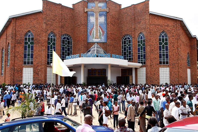 Christians at Regina Pacis parish in Remera. The government is reviewing the existing law regulating churches and mosques after establishing loopholes that have led to establishmen....