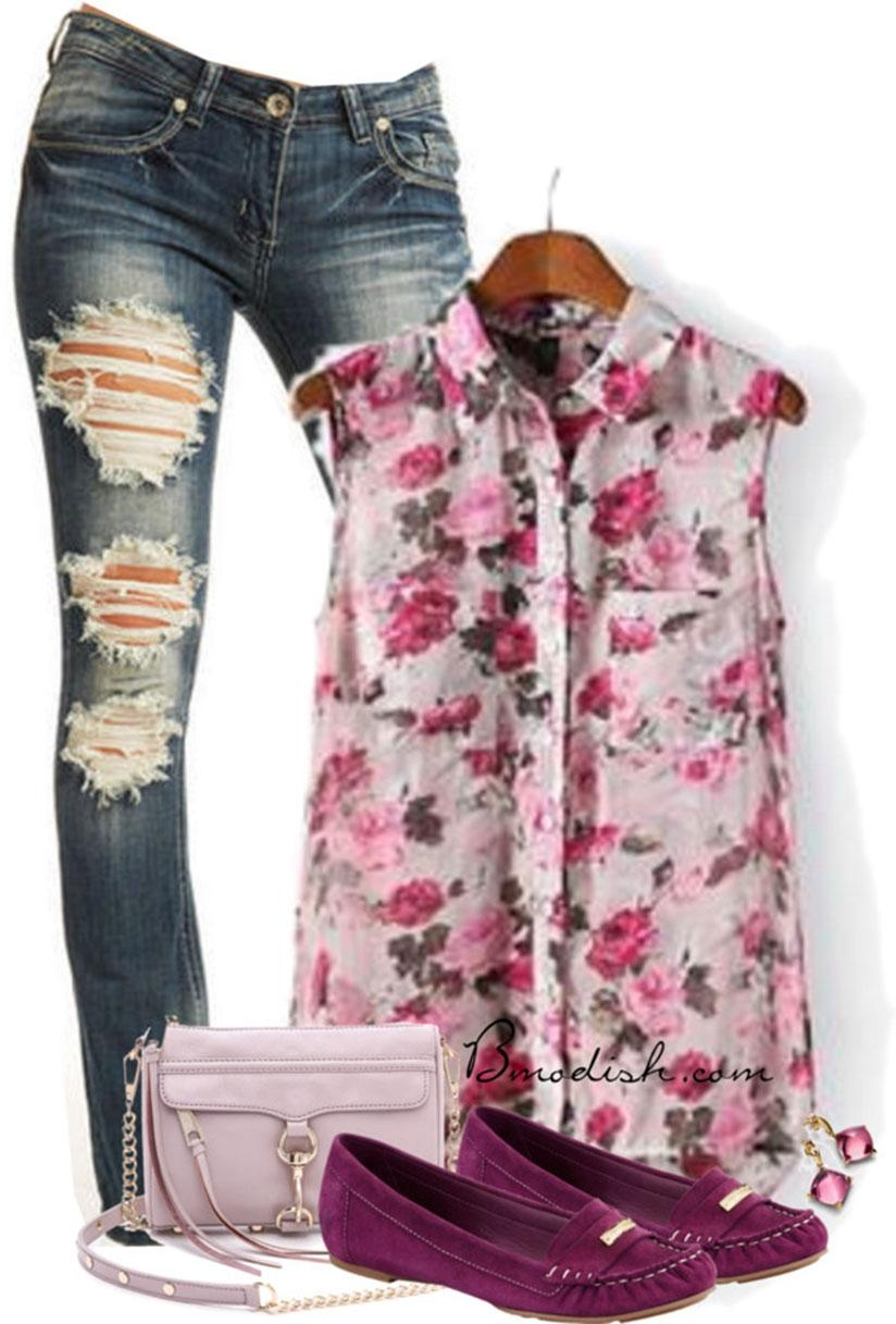 Look for cool ideas on how to style floral print outfits.  (Net photos)
