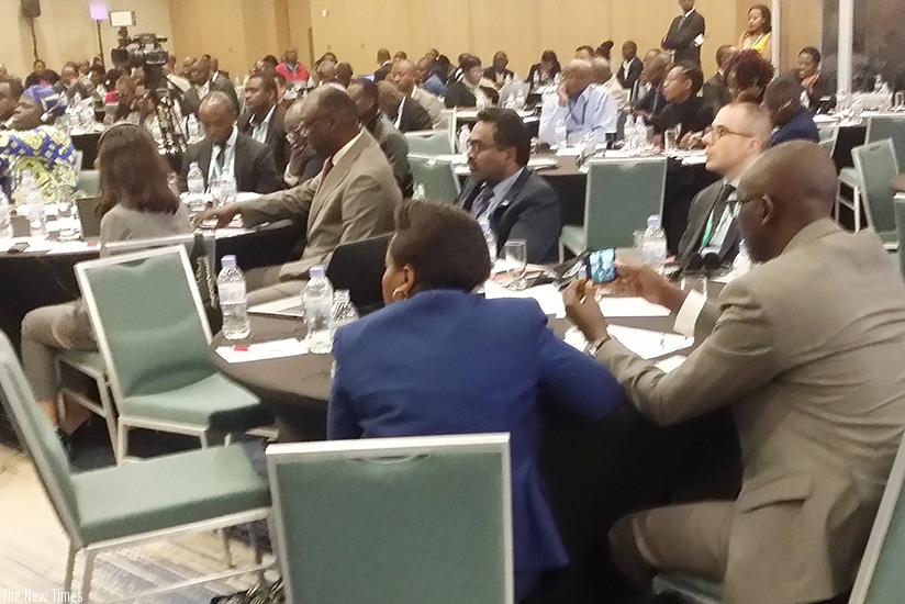 Some of the delegates who attended the conference yesterday.  (Peterson Tumwebaze)