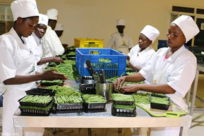 Women prepare horticulture produce for export.  (File)
