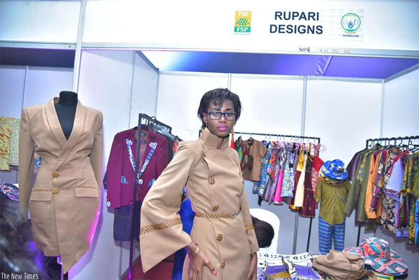 Cynthia Rupari, CEO of Rupari Designs, displays her designs.