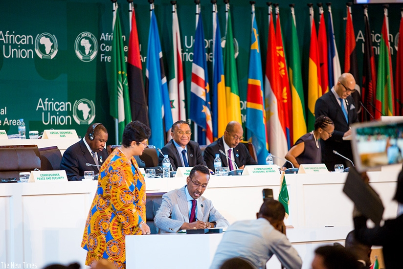 Forty-four countries signed the African Continental Free Trade Area, 43 inked the Kigali Declaration, while 27 countries adopted the protocol on free movement of persons. Courtesy.