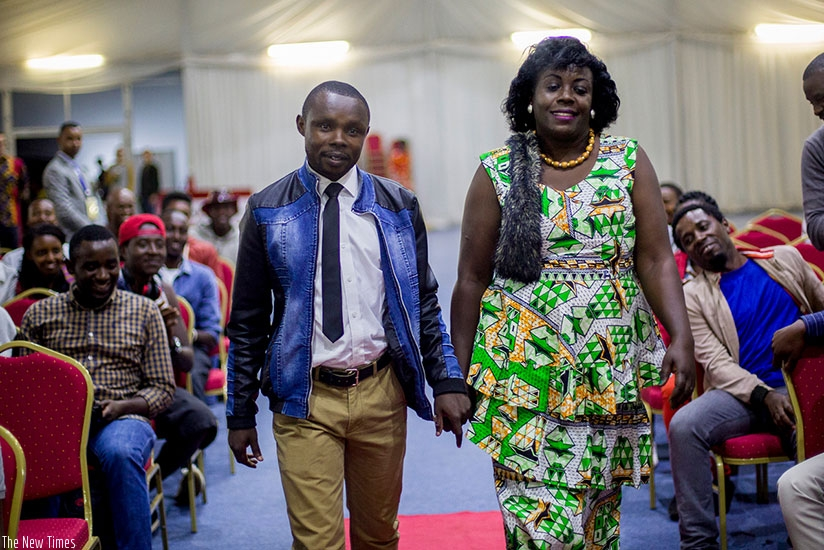 Women will be celebrated during this year's festival. In the photo, local actors arrive at a past film festival in Kigali. /Courtesy.