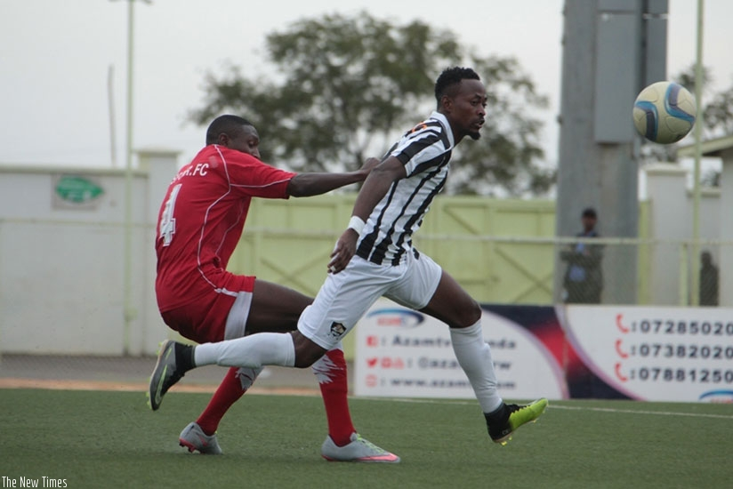 APR FC forward Issa Bigirimana failed to score against lowly Espoir in midweek. Courtesy