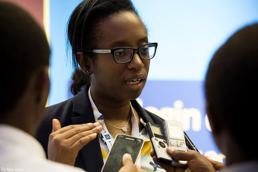 Dr Karusisi speaks to journalists during a past event.  File