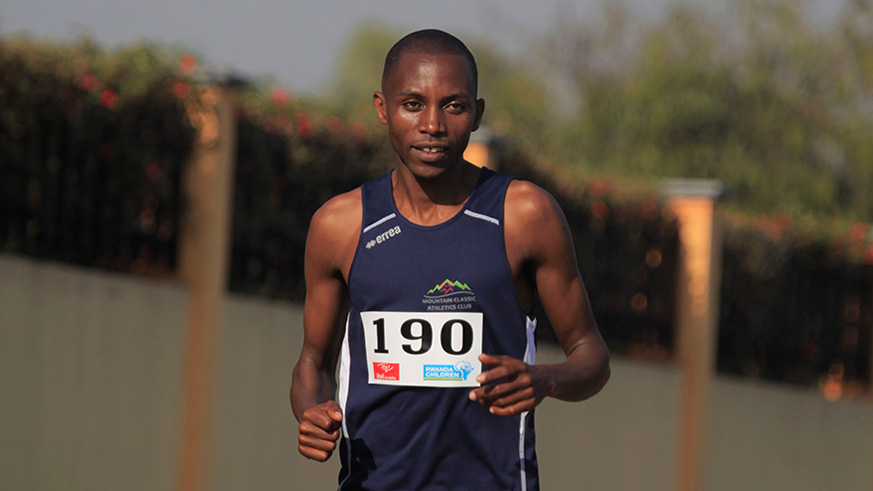 Rwanda's long distance runner Athlete Felicien Muhitira during the race. / Sam Ngendahimana