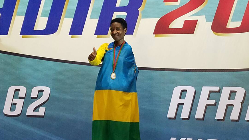 Consolée Rukundo was Rwanda's sole gold medallist on Wednesday. / Courtesy