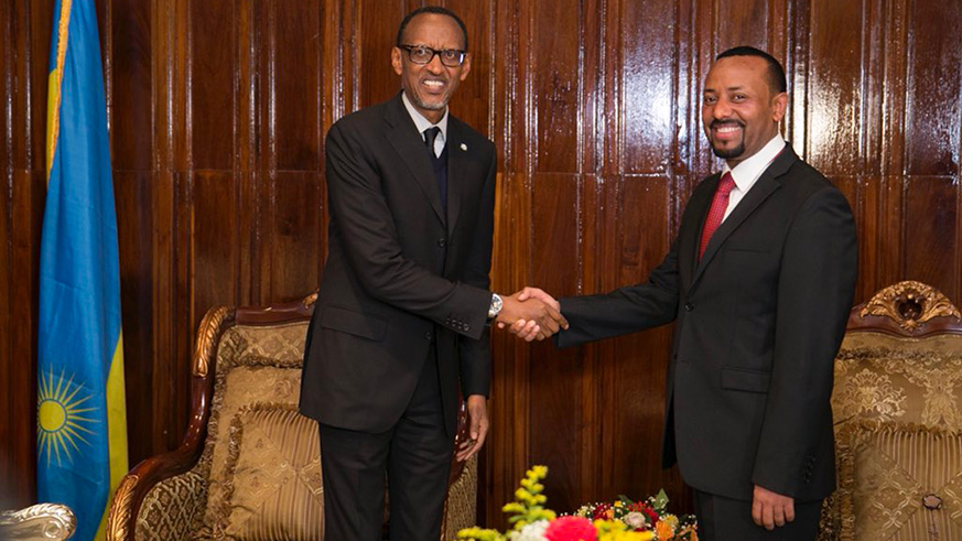 Kagame in Ethiopia for State Visit