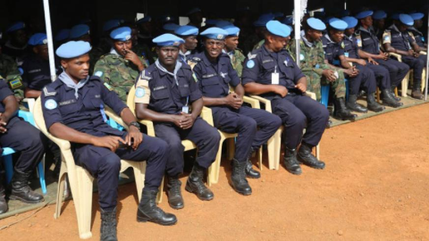 Rwandan peacekeepers in Malakal during the commemoration. / Courtesy