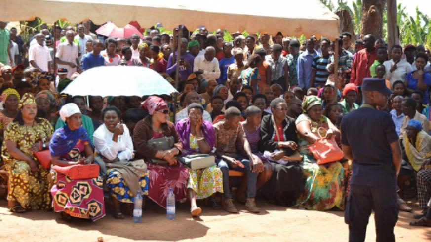 The families of Ntezimana and his wife sitting on front row to follow the proceeding