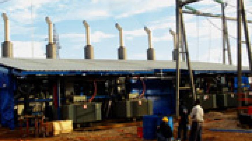 Generators at Jabana Thermo Plant which helped boost electricity supply in the country. Inset, Mirenge. (File photo)