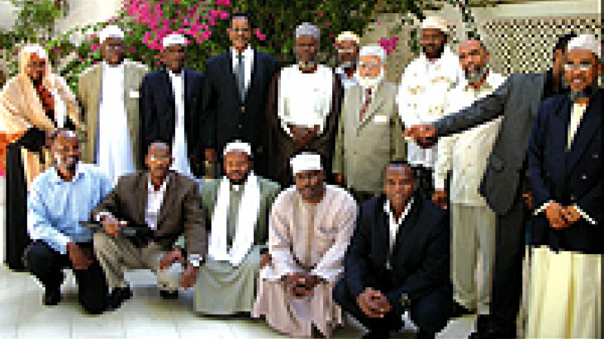 Mufti Habimana (standing 3rd from left) and other ACRL members during a recent meeting in Somaliland. (Courtesy photo)