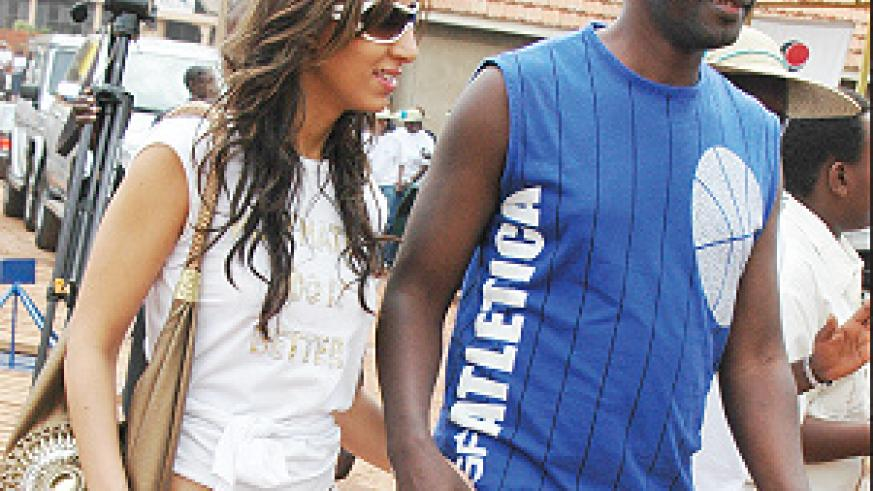 Ngendeyingoma a.k.a Ndengeye and his fiancee Samia during an August fundraising function for the planned MOGAR school in the Eastern Province. (File photo)