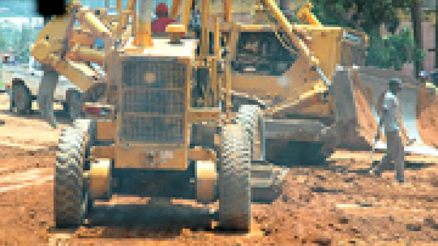 A past construction exercise on Kicukiro-Nyamata road, which is now tarmac. (File photo)