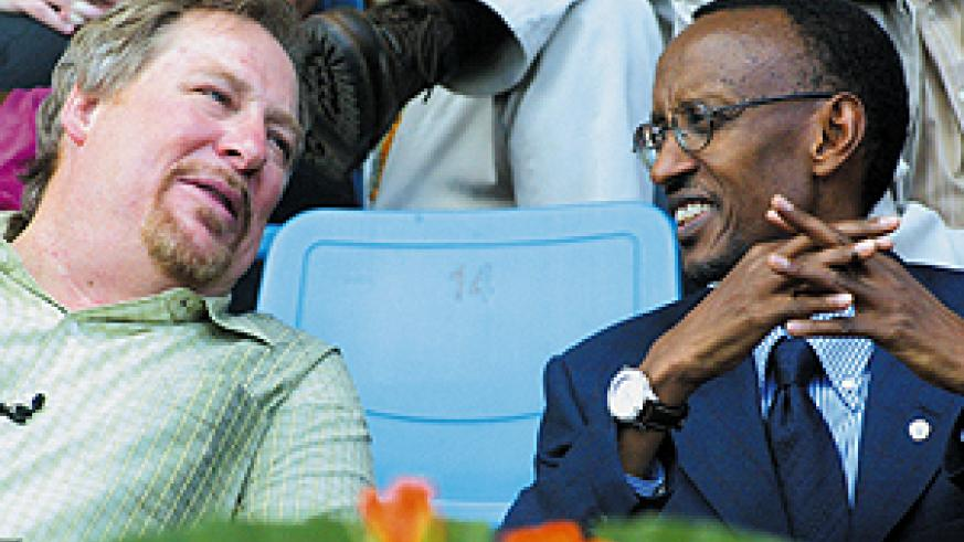 President Kagame and Pastor Warren at the launch of 'Forty Days of Purpose' yesterday at Amahoro National Stadium. (Photo/G. Barya)
