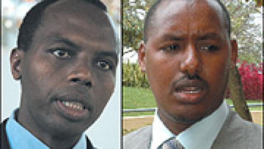 Behind doing business reform: Riepa's Francis Gatare and RRA's Eugène Torero.