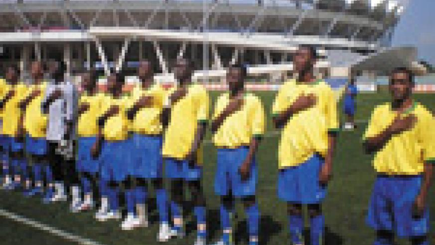 Amavubi Stars face an uphill task of overturning a 4-0 deficit from the first leg against Sudan. The Desert Hawks are expected to arrive in Kigali today.( File photo)
