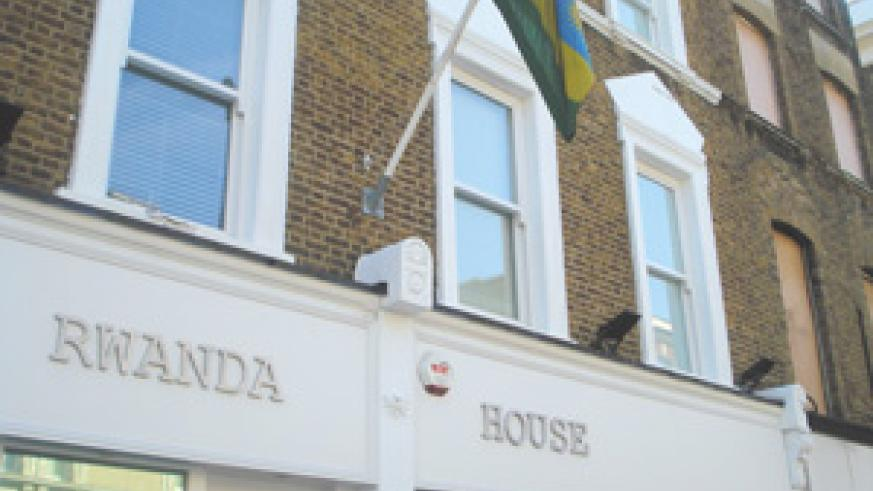 The Rwandan Embassy building in London which was the subject of an attempted terrorist attack Sunday night