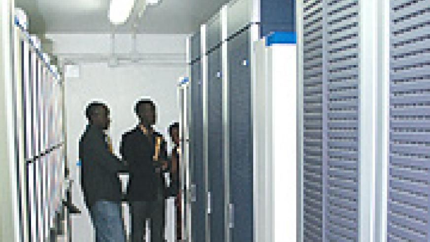 Some of the equipment MTN installed to shift pre-paid customer to a new system. (Courtesy photo).