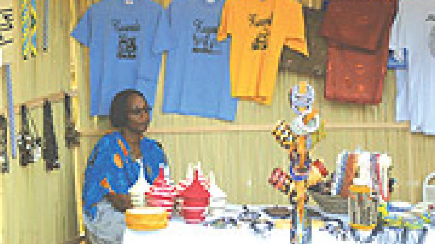 Arts and crafts exhibitors at the FESPAD festival say few people are buying their products because of a Frw500 entrance fee and little promotion of the event at Amahoro Stadium. (Photo/T. Kisambira).