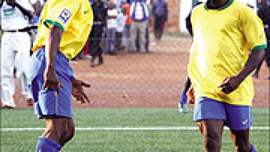 NOUAKCHOTT BOUND: Bokota Kamana (L) and Said Abedi Makasi are  expected to lead Rwanda's attack once again when they meet Mauritania in the return leg.