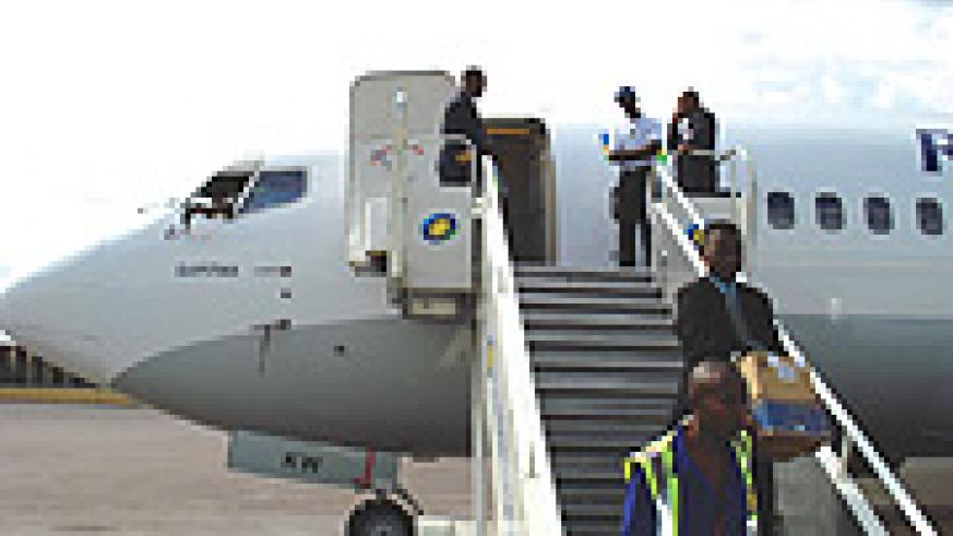 After halting its Kigali-Johannesburg flights for four months because of technical issues on its Boeing 737, Rwandair Express will resume the route next month. (File photo)