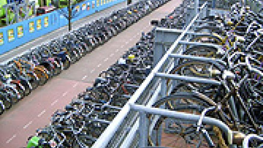"""Bicycles a major form of transportation in Amsterdam."