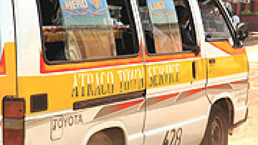 Atraco minibus - very popular form of public transport in Rwanda.