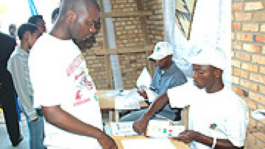 Electoral officials direct voters how to go about it.