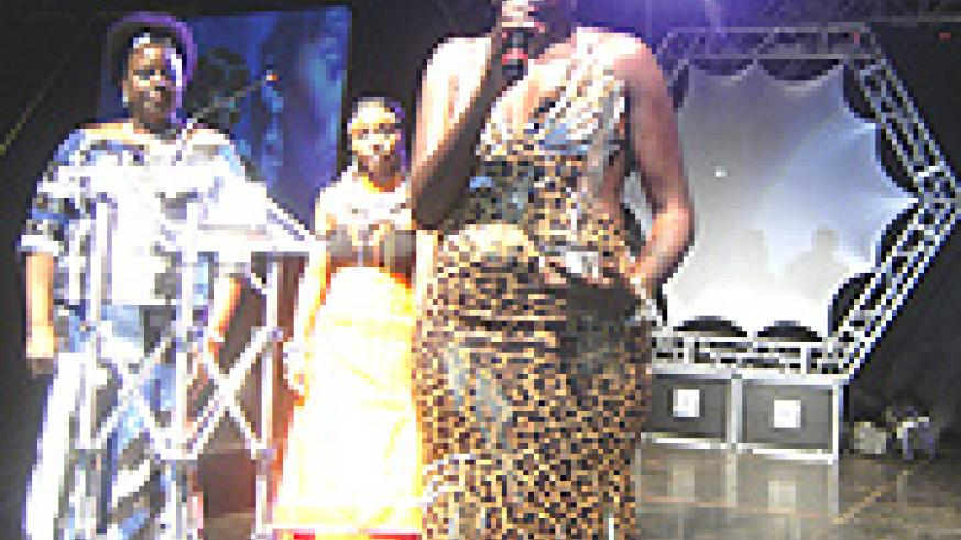 Pam Award's 'Best Artiste' Juliana Kanyomozi, thanks whoever supported her to  win the music competition.